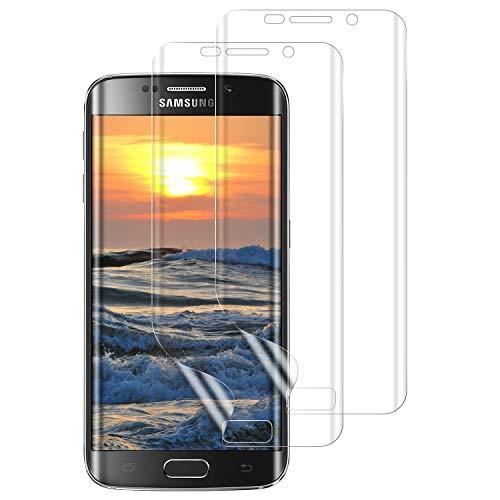 DASFOND 2 Stück Schutzfolie für Samsung Galaxy S7 Edge,Premium Samsung Galaxy S7 Edge Folie, Vollständige Abdeckung, Blasenfreie,Klar HD Weich TPU Displayschutzfolie für Samsung Galaxy S10 Edge