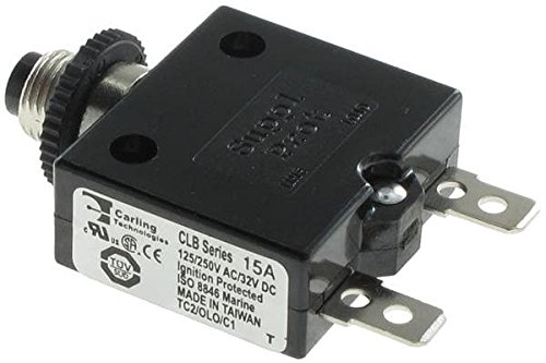 Circuit Breakers 15 AMP METAL BLACK (5 pieces)