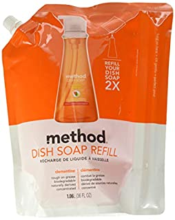 Method Dish Soap Refill, Clementine, 36 Ounce (Pack 2) (B004O655CO) | Amazon price tracker / tracking, Amazon price history charts, Amazon price watches, Amazon price drop alerts