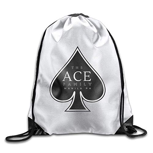 Yuanmeiju Men&Women The Ace Family Durable Gym Drawstring Backpack White