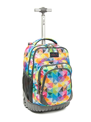 Tilami Rolling Backpack Armor Luggage School Travel Book Laptop 18 Inch Multifunction...