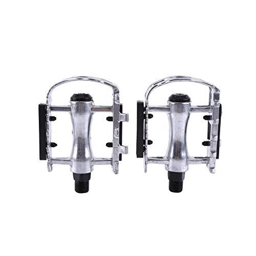 Yosoo Health Gear 1 par de Pedales de Bicicleta Plateados, P