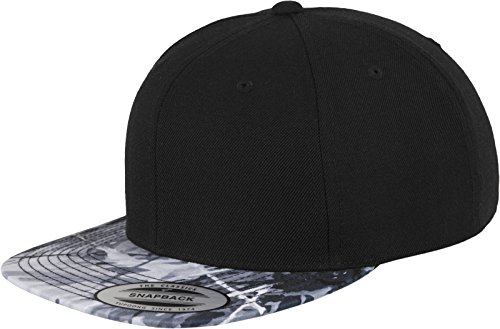Flexfit Oil Paint Snapback Kappe, Black/h.Grey, one Size