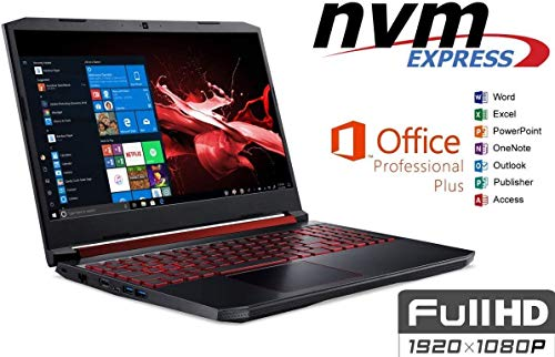 Notebook Nitro 5 AN515 - 32GB DDR4-RAM - 500GB SSD + 1000GB HDD - Windows 10 PRO + MS Office 2016 Pro - 39cm (15.6