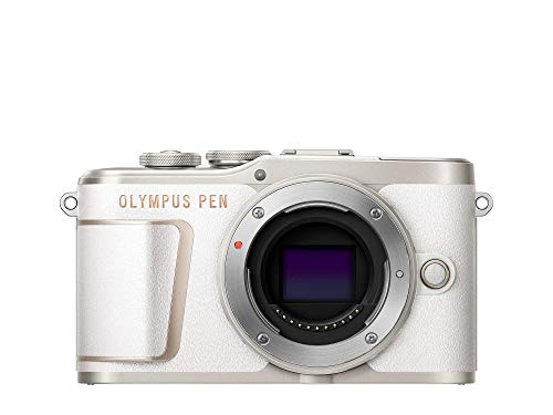 Olympus PEN E-PL10 Micro Four Thirds System Kamera, 16 Megapixel, Bildstabilisierung im Gehäuse, Schwenkbarer Monitor, 4K Video, Wi-Fi, 16 Art Filter, Touch AF Auslöser, 9 erweiterte Fotomodi, Weiß