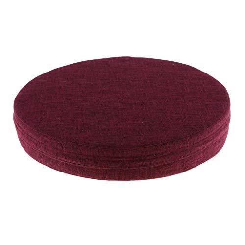perfeclan Cojín de Meditación/Cojín para Yoga/Cojín para Silla, Núcleo Interior de EPE a Prueba de Humedad con Un Grosor Aproximado de 6 Cm / 2,36 P - Vino Rojo