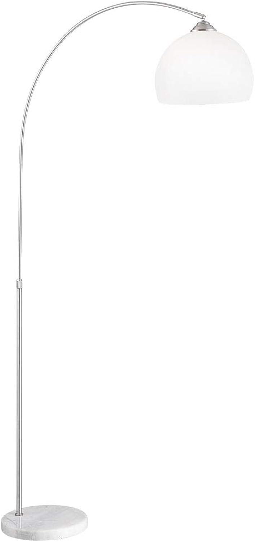 Steh Leuchte Wohn Ess Zimmer Marmor Stand Decken Fluter Lese Lampe im Set inkl. LED Leuchtmittel