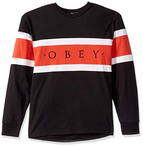 Obey Herren Embrace Classic Tee LS T-Shirt, Schwarz Multi, Mittel