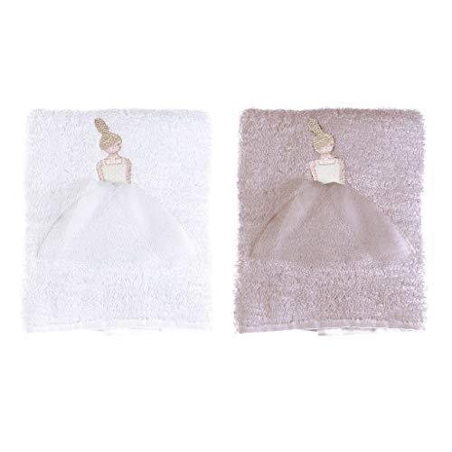 BLANC MARICLO Juego de 2 toallas de baño Ballet Romance en blanco o rosa A28246