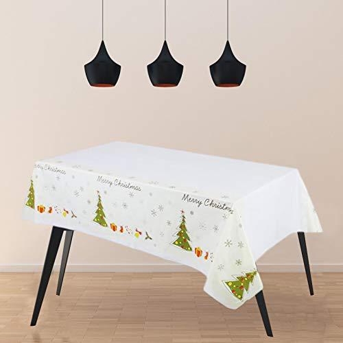 Further Kunststoff Weihnachten Tischdecke 137cm 274cm Rechteck Einweg Weihnachten wasserdichte Tischdecke Abdeckungen Für Partyzubehör Geschirr Rechteck Dekor