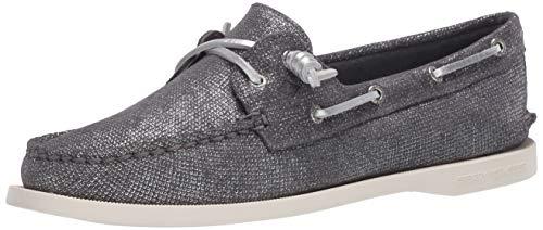 Sperry Women's Authentic Original Vida Boat Shoe, Silver, 8.5
