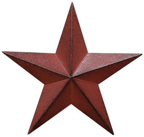Distressed Country Red Black Burgundy Barn Star Country Primitive Wall D