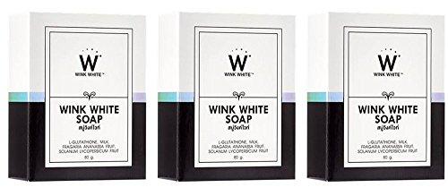 3pieza Gluta Glutatión Blanqueamiento jabón de color blanco reducir de lunares y...