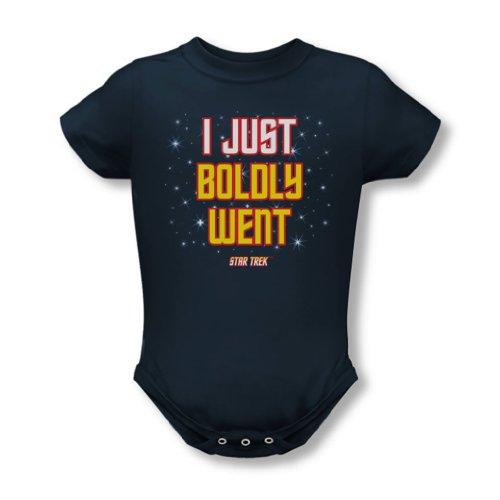 Star Trek - - S'est courageusement aventuré infantile T-shirt dans la Marine, 18, Navy