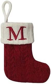 St. Nicholas Square Mini Cable Knit Stocking-Letter M