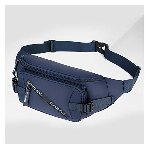 TZZD ONUSEX FANDY Pack Negro Empresas Impermeables Bolsa de cinturón de Dinero Hombres Mujeres Deportes Viaje Cartera Cinturón Bolsas de Cintura Masculina Estuche para teléfono (Color : 04 Navy)