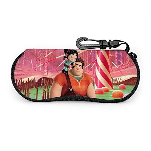 185 Bolsa De Anteojos Portátil,Wreck It Ralph Glasses Box, Bolso De Moda Para Gafas Con Mosquetón Para El Hogar Al Aire Libre,17x8cm