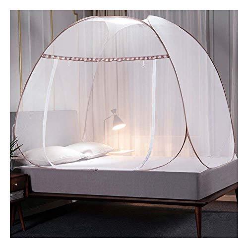 Meet World Pop Up Moskitonetz, tragbare Zelt Reise Doppeltür Reißverschluss Bett Netz, einfache Installation und feine Masche, perfekt für Schlafzimmer im Freien ,1,120*20OCM