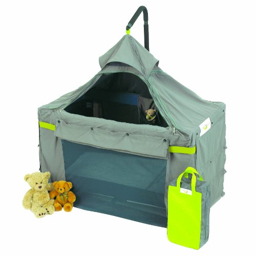 Content&Calm Cot Canopy Original Crib Darkness and Insect Protection, Grey/Green