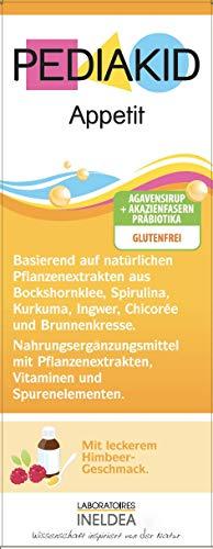 PEDIAKID® - APPETIT - 125 ml - Regt den Appetit an und bekämpft Müdigkeit - Glutenfrei - Vegan - Ab Aufnahme der Beikost - Leckerer Geschmack - ISO 22000:2005 zertifiziert
