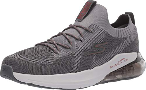 Skechers Men's Go Run Air Stratus-Performance Running & Walking Shoe Sneaker, Charcoal/Red, 10 M US