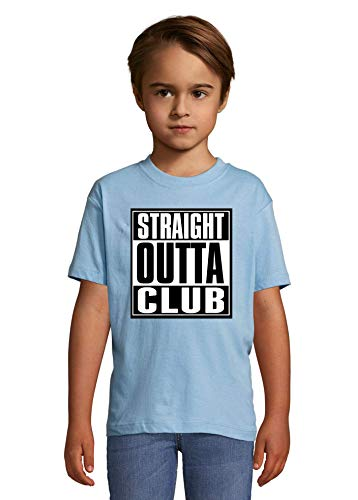 Luckyprint Straight Outta Club Slogan Heaven Kids Colorful T-Shirt 10 Year Old