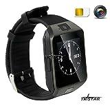 1.56' TFT LCD Touch Screen Smart Watch Smart Uhr Smartphone mit Android System Bluetooth Fitness Schlaf Monitor Audio Play Facebook DZ09 Schwarz