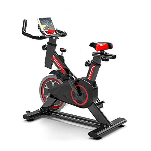 WuoooLi Bicicleta de Spinning, Asiento Ajustable,con Pantalla LCD,Equipo de Entrenamiento de Entrenamiento Cómodo Cojín Sillín Unisex,para Gimnasio de Oficina en Casa … (B)