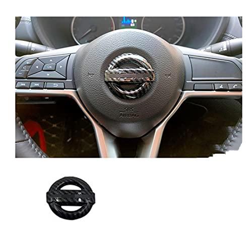 coche volante decoración cubierta Emblema del volante emblema pegatina compatible con la insignia de Nissan Qashqai Altima Sylphy X-Trall Tiida Bluebird Sunny Auto Logo Accesorios Marco