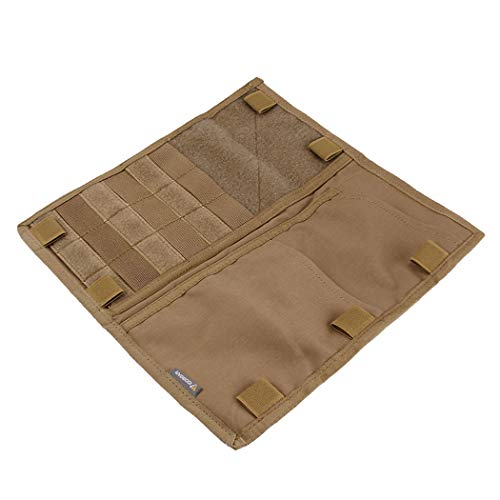 IDOGEAR Tactical Car Visor Panel Vehicle MOLLE Sun Visor Organizer Pouch Holder Storage Bag Truck Shade Panel Cover for Most Vehicle (Coyote Brown)
