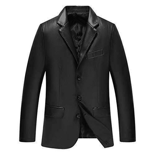 Mannen Blazer Business Slim Fit lederen jas heren zwart motorfiets waterdicht top blauw buiten motorfiets gelegenheid overcoat