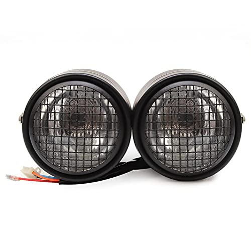 Motorcycle Dominator Grill Twins Dual Headlight Street fighter Double Headlamp