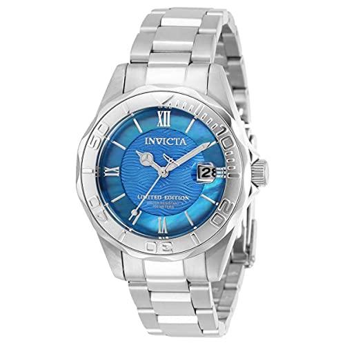Invicta Pro Diver Reloj de cuarzo con esfera azul para mujer 34262