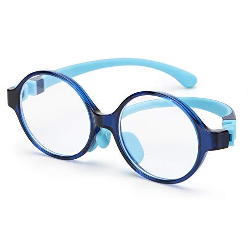 FIMILU TR-90 Kids Blue Light Blocking Glasses for Boys Girls Età 3-12, UV 400 Occhiali da gioco per computer Antiriflesso, affaticamento degli occhi e filtro Blu-ray