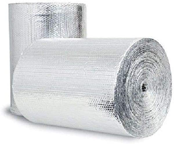 US Energy Products 400sqft 48 X 100 Double Bubble Reflective Foil Insulation Thermal Barrier R8 Vapor Barrier Residential Commercial
