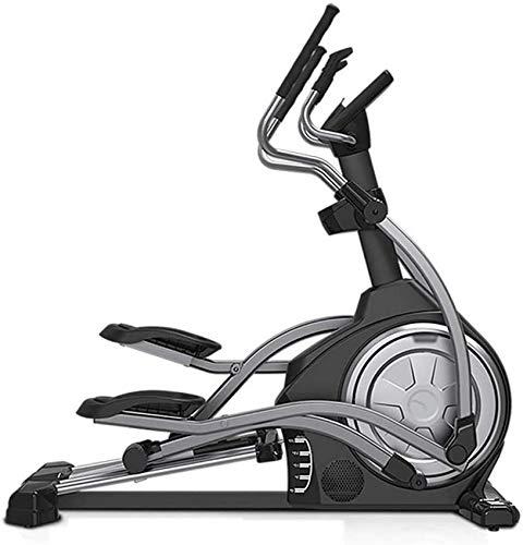 LJYY Máquina elíptica, Equipo de Bicicleta estática para Interiores, aleación de Cuatro Pistas, Control electromagnético de 16 velocidades, para Hombres y Mujeres, Uso RunningMachine1121