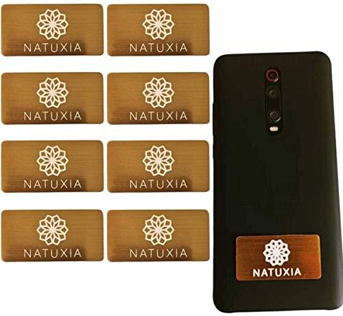 Natuxia Escudo Anti Radiación Móvil/Laptop EMF Shield Personal, Bloqueador De EMF-neutralizador, Protección Radiaciones Electromagnéticas, Escudo De Protección Fem, Protección EMF Radiación (8 Pack)