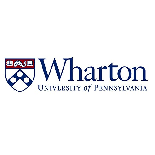 Wharton University Logo OriginalStickers0870 Set Of Two (2x) Stickers , Laptop , Ipad , Car , Truck , Size 4 inches on Longer Side