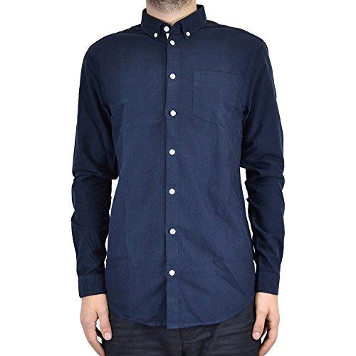 minimum Camicia Uomo Jay L/S Shirt 13402.0299 (S - Dark Navy)
