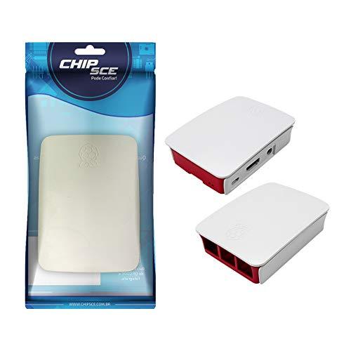 Case Plástico Para Raspberry Pi 3 B - Branco/Vermelho