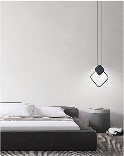 JFFFFWI Nueva lámpara LED Moderna de una Sola Cabeza, luz Variable de Tres Colores de Aluminio, luz Colgante de Tres Piezas para iluminación Decorativa