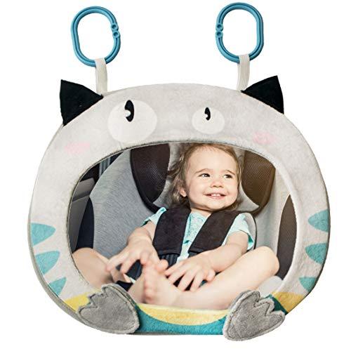Rücksitzspiegel für Babys - YUESEN Bruchsicherer Auto-Rückspiegel für Babyschale, 360° schwenkbar, Cartoon Tier Spielzeug Baby, hängende Rücksitzspiegel im Sicherheitsstuhl Auto für Baby-Erwachsene