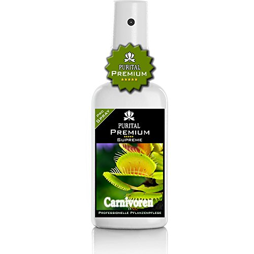 PURITAL Premium Carnivoren Spray - Carnivorenpflege - gesunde Blätter/Fallen und üppige Struktur - Profi Nährstoffe und vitalisierende Karnivoren-Pflege. Fleischfressende Pflanzen düngen - Dünger