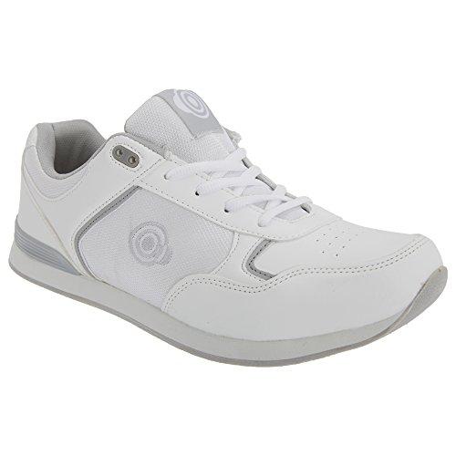 DEK - Zapatos Estilo Bolos Modelo Jack para Hombre (41/Blanco)