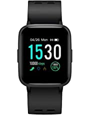Icefox Smartwatch, fitnessarmband met volledig touchscreen, IP68 waterdicht, fitnesstrackers voor Android en iOS