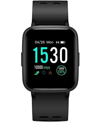 icefox Unisex-Adult smartwatch, Dark Blue, 1