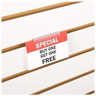 Slatwall Economy Sign Holder - Flush Signage & Card Grip for Slatwall Panels - 10 Pack