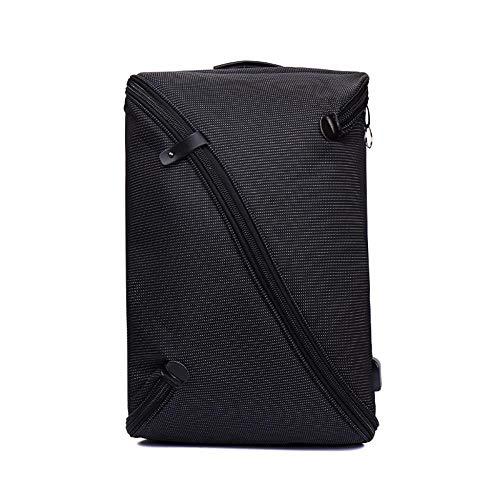 防水ラップトップバッグショルダーバックパックのストレージセキュリティを充電,黒,15インチ