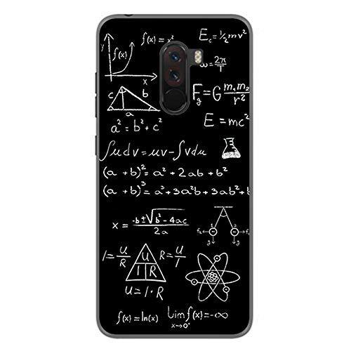 Tumundosmartphone Funda Gel TPU para XIAOMI POCOPHONE F1 diseño Formulas Dibujos