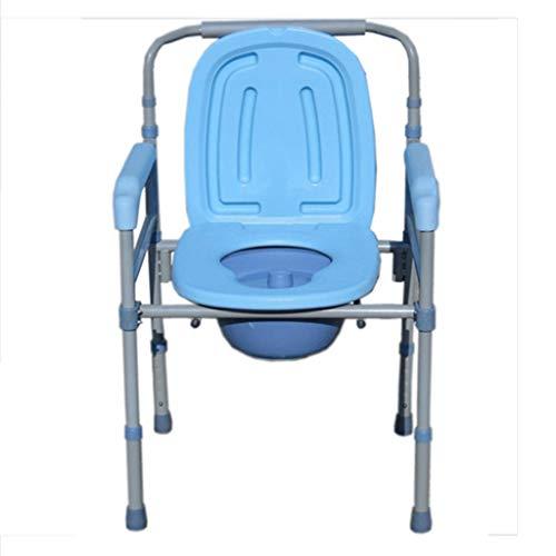 Mobiler Toilettenstuhl, Extra breit Höhenverstellbar Sicherheitsrahmen Geeignet für ältere Menschen/Schwangere/Behinderte